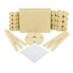 124 pcs-60 Self Stick Furniture Felt Pads For Hardwood Floor