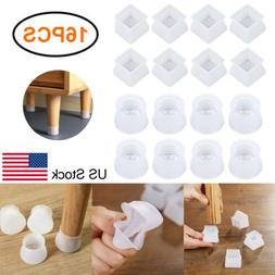 16Pcs Silicone Chair Furniture Leg Protection Cover Table Fe