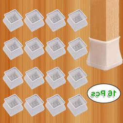 16pcs Silicone Table Chair Leg Protector Cover Anti-Slip Fur