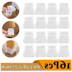 16pcs Silicone Table Chair Leg Protector Cover Non Slip Furn