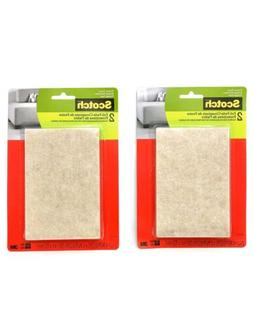 Scotch 2 Pack 4in x 6in Brown Strip Felt Pad Durable Protec