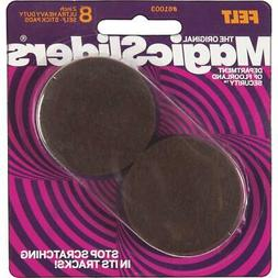 Magic Sliders 2 In. Round Brown Self-Adhesive Ultra Heavy-Du