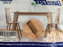 24 Brown Chair Leg Furniture Polyester Socks with Felt Non-S
