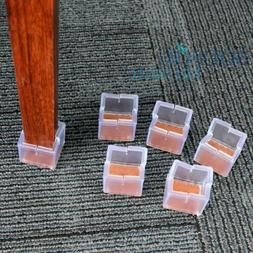 24 Pack Anwenk Chair  Feet Protectors Square Leg Protector S