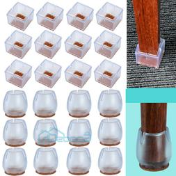 24PCS Silicone Chair Leg Caps Feet Cover Pads Furniture Tabl
