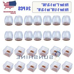 24pcs Silicone Furniture Table Floor Feet Cover Protectors C