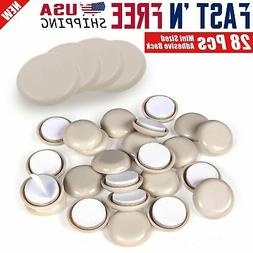 "28 Pcs Adhesive Back Mini 1"" & 2"" inch Round Furniture Slide"