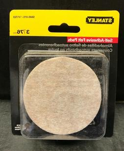 Stanley 3-Inch Round Heavy Duty Felt Pads with Adhesive Back