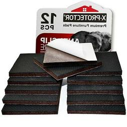 """X-PROTECTOR 12 pcs 3"""" Rubber QUALITY Furniture Pads For Ha"""