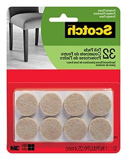 32 Pads Felt Pads Round 1in Diameter Beige 32 Pack Great for