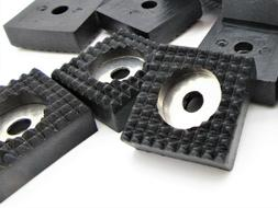 "3/4"" Square Rubber Feet w Washer. Non-Skid for Benchtop Elec"