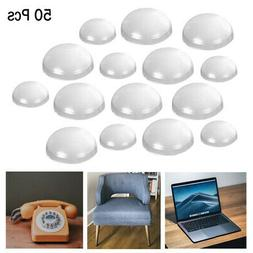 50Pc Self Adhesive Clear Feet Bumpers Round Stick Pads Lapto