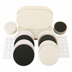 56 PCS Furniture Sliders Furniture Pads for Heavy Furniture