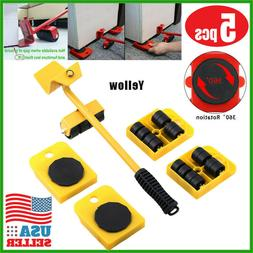 5pc Heavy Furniture Moving System Lifter Tool 4 Slide Glider