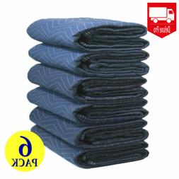 6 Moving Blankets Deluxe Pro 45lb Per Dozen Quilted Shipping