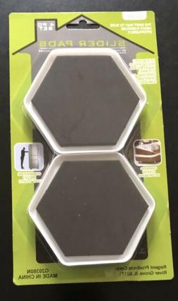 "8 FURNITURE SLIDER PADS MOVERS FLOOR PROTECTOR 4"" FOR CARPET"