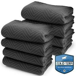 """8 Moving Blankets Furniture Pads - Ultra Thick Pro - 80"""" x 7"""