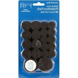 80 Pack Brown Felt Pads Round  for Chairs Tables Home Furnit