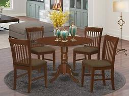 East West Furniture DLNO5-MAH-C 5-Piece Kitchen Table Set, M