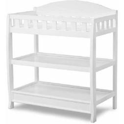 White Changing Table with Pad Child Baby Infant Diaper Nurse