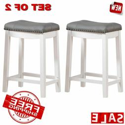 "BAR STOOLS PADDED SADDLE Cushion Seat 24"" Breakfast Home Kit"
