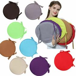 Bistro Round Chair Seat Cushion Pad Cushions Solid Round Tie