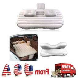 Car Air Bed Inflatable Mattress Back Seat Pads Cushion Silve