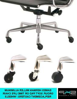 CASTERS FOR EAMES HERMAN MILLER ALUMINUM GROUP SOFT PAD OR T
