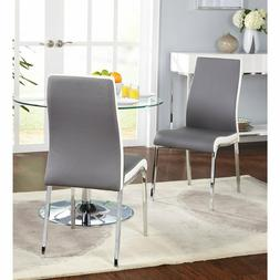 Dining Chair Chrome Plated Metal Leg With Chair Pad Kitchen