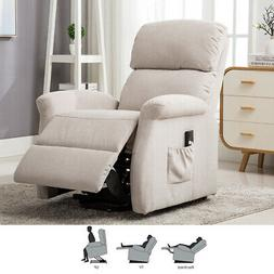 Electric Power Lift Recliner Chair Modern Sofa Padded Seat w