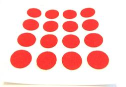 """Felt Adhesive Backed Furniture Pads Craft Dots 3/8"""" Dia. Red"""