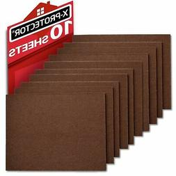 "Felt Furniture Pads X-PROTECTOR - 10 Pack Premium 8""x6"""
