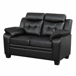 Finley Casual Padded Loveseat Black