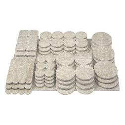105 Pack Heavy Duty Multipack Felt Pads Sliders for Legs Cha