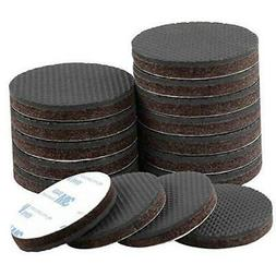 HongWay 16pcs Felt Furniture Pads 2 Inch Round for Protectin