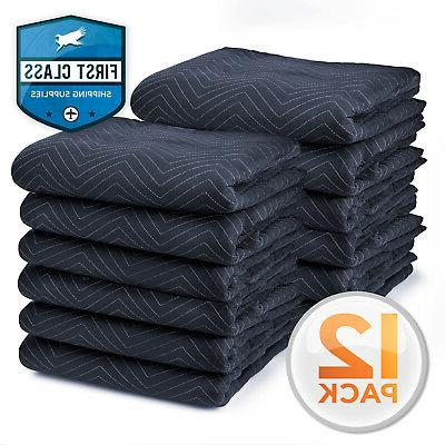 12 moving blankets furniture pads pro economy