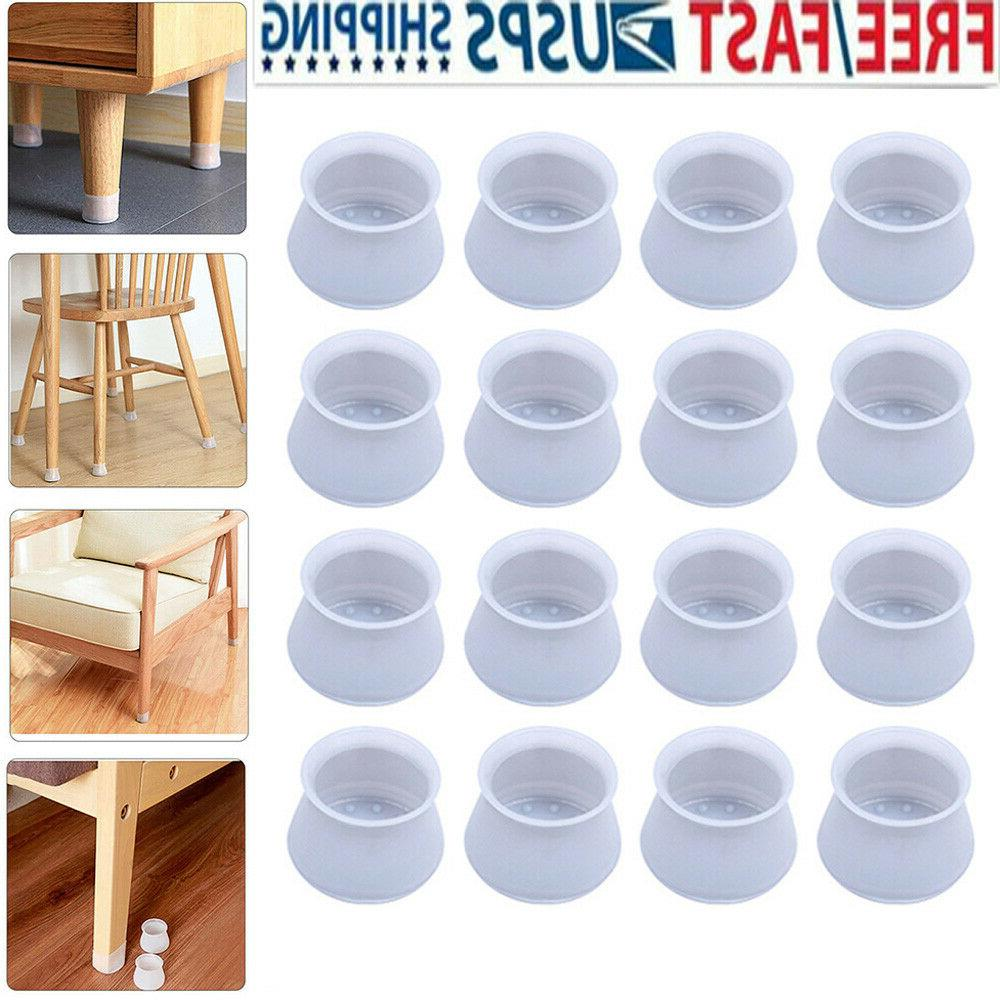 16pcs silicone table chair cover floor protector