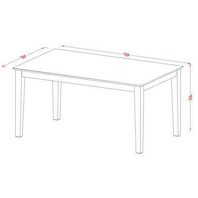 5pc Capri dinette dining table benches + 2 padded