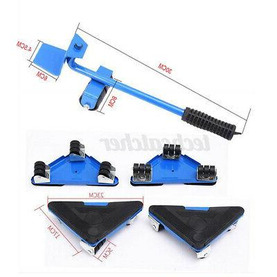 5Pcs Heavy Furniture Lifter Mover Wheels Moving Slider