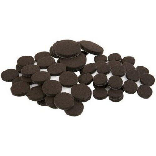 80 Pack Brown Felt Pads Round for Tables Furniture, Touch