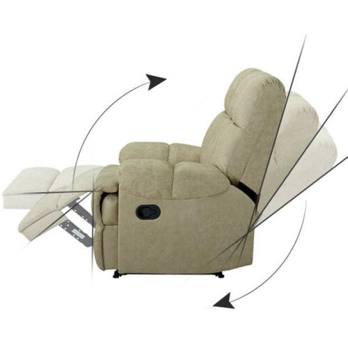 Leather Recliner Chair Comfortable Soft Sofa Sturdy