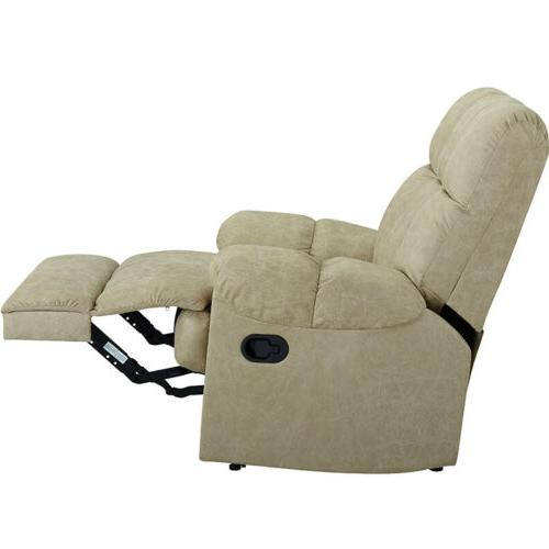 Leather Recliner Chair Padded Comfortable Sturdy Structure
