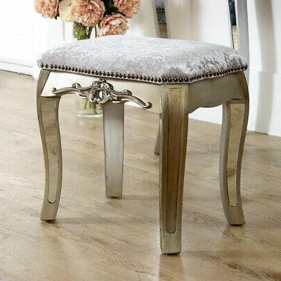 Mirrored table padded set French
