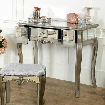 Mirrored dressing padded stool French