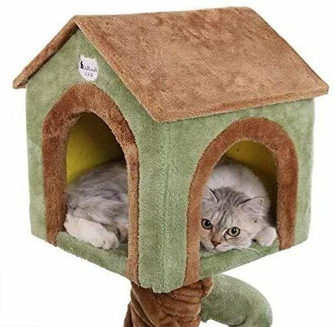 🥇MultiLevel Cat Tree Condo with Scratching Pads Play 🥇