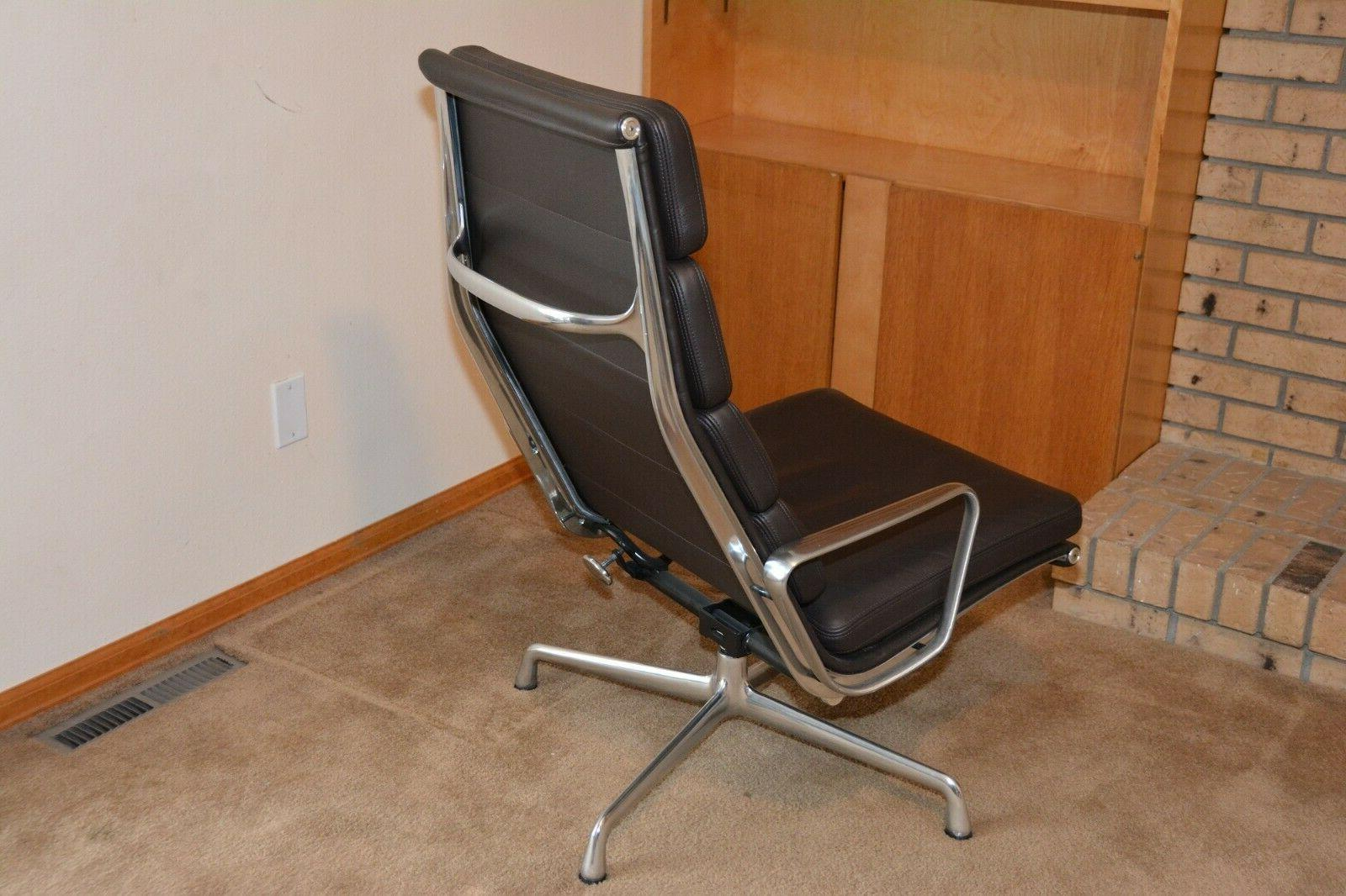 NEW HERMAN MILLER ALUMINUM GROUP PAD LOUNGE LEATHER