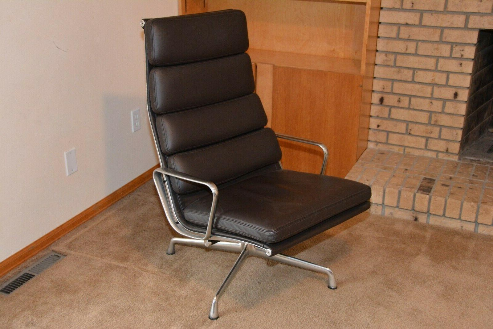 NEW AUTHENTIC MILLER ALUMINUM GROUP PAD CHAIR LEATHER