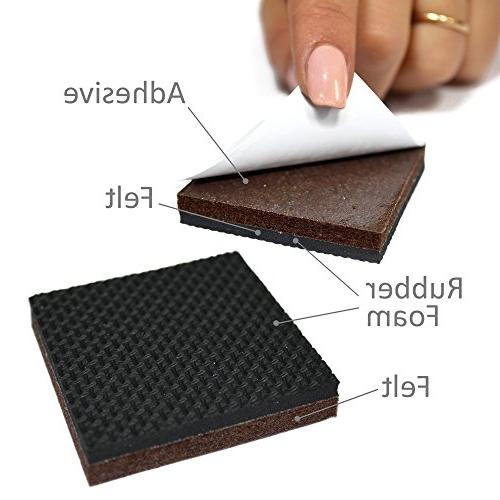 NON SLIP FURNITURE pcs Pad! Best Grippers - - Furniture Floor Protectors Keep Place & Furniture