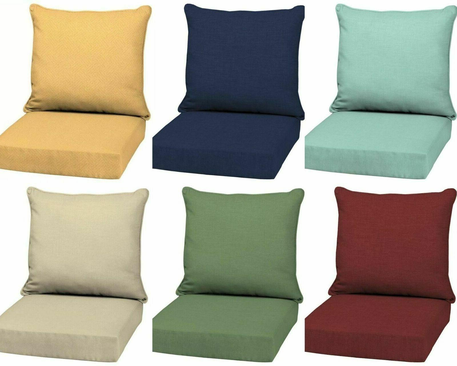 outdoor deep seat chair patio cushions set