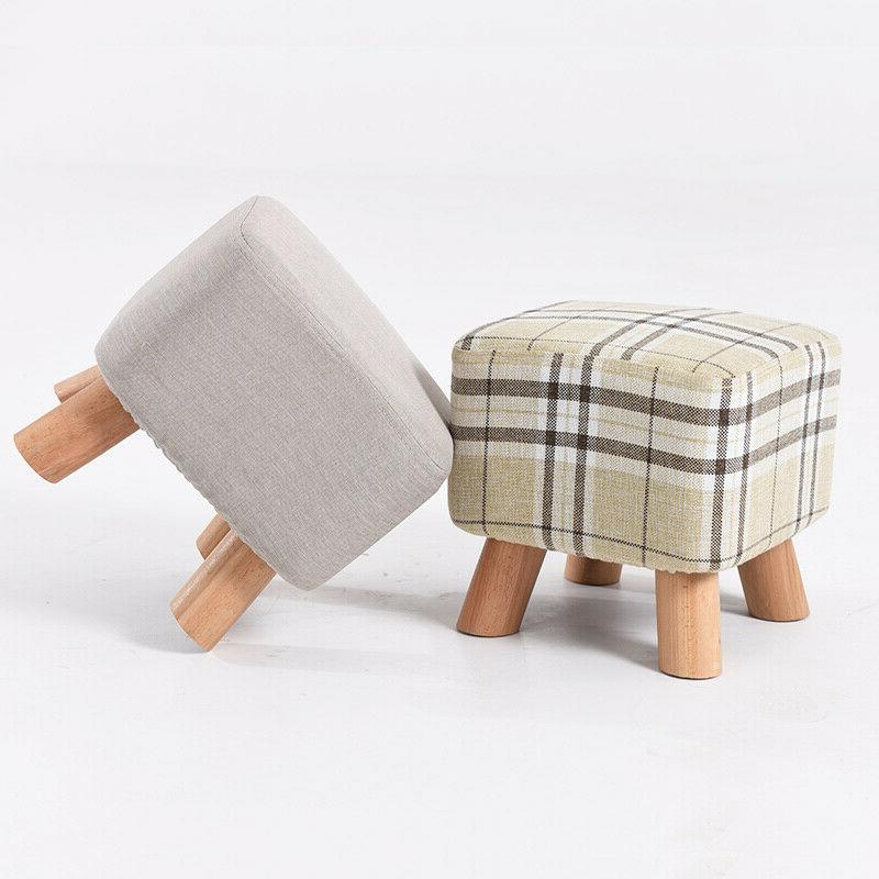 square footstool ottoman footrest soft padded stool